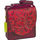 IFD-A05 - Maroon/Dark Red Leaves - 'I Frogee' Boxy Diaper Bags
