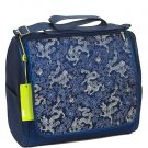 MDB - Dark Blue Dragon Brocade - I Frogee Mom's Diaper Bags