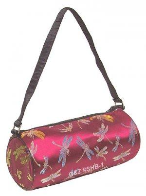 SHB1 - Maroon Cylinder Shoulder Bag (Cosmetic Bag)