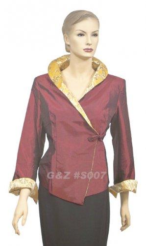 S007 - Dark Red - Lady's 1-Button Jacket