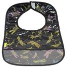 Black Dragonfly-'I Frogee' Baby Bibs