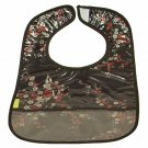 Black/Red-Silver Cherry Blossom-'I Frogee' Baby Bibs