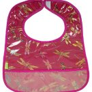 Dark Red Dragonfly-'I Frogee' Baby Bibs
