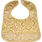 Gold Fortune Flower-'I Frogee' Baby Bibs