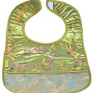 Olive Green Dragonfly-'I Frogee' Baby Bibs
