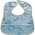 Silver/Skyblue Cherry Blossom-'I Frogee' Baby Bibs
