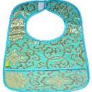Skyblue Fortune Flower-'I Frogee' Baby Bibs