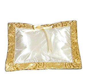 Gold Fortune Flower Brocade - I Frogee Baby Pillow