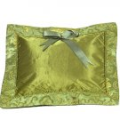 Olive Green Fortune Flower Brocade - I Frogee Baby Pillow