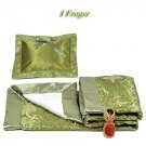 Olive Green Fortune Flower Brocade - I Frogee Baby Gift Set
