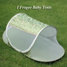 babycamp02 - Olive Green Butterfly - 'I Frogee' Foldable Baby Tent