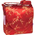 IFD12 - Red/Gold Cherry Blossom - 'I Frogee' Boxy Diaper Bags