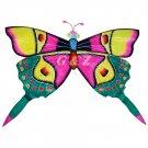 TCHD001-2  Rain Forest Butterfly Kite-1 (Pink/Green) (Chinese Silk Kite)