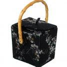BX01 Black/Silver+Gold Take-Out-Box Handbags(Cherry Blossom Brocade)