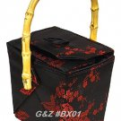 BX01 Black/Red Take-Out-Box Handbags(Cherry Blossom Brocade)