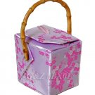 BX01 Silver/Light Pink Take-Out-Box Handbags(Cherry Blossom Brocade)
