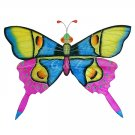 TCHD001-6  Rain Forest Butterfly Kite-1 (Blue/Pink) (Chinese Silk Kite)
