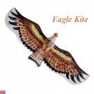 3D Small Silk Eagle Kite - Brown (TC-E02)