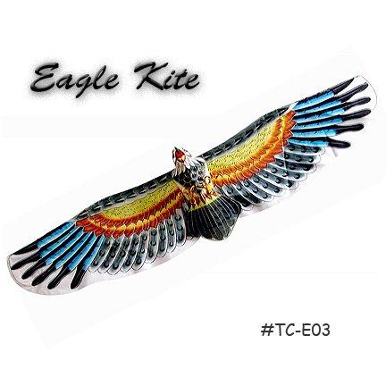 TC-E03 Large 3D Silk Eagle Kite - Black