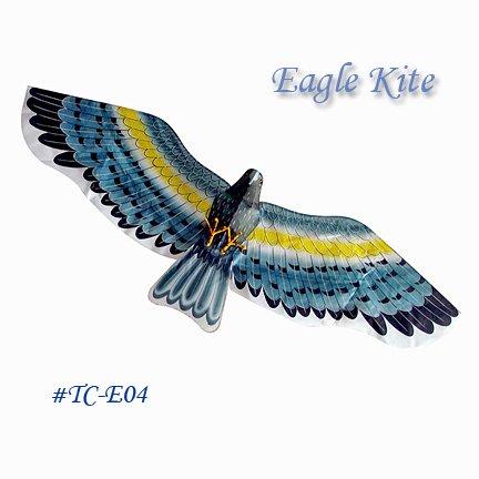 TC-E04 Large 3D Silk Eagle Kite - Gray