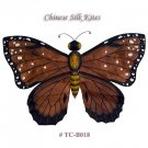 TC-B018 Dark Brown Silk Butterfly Kite(Small) - Chinese Silk Kites