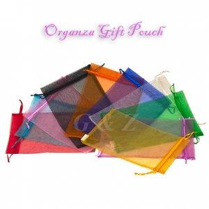 Medium Drawstring Sheer Organza Gift Bags (By Dozen)