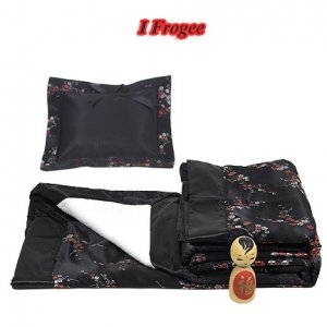 Black-Red+Silver Cherry Blossom Brocade - I Frogee Baby Gift Set