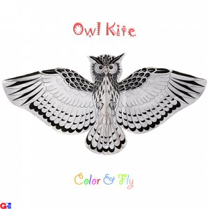 2 Owl Kites For Coloring & Flying (DIY-OWL-3)