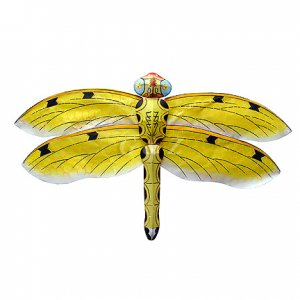 Mini Silk Dragonfly Kite - Yellow - Chinese Kites