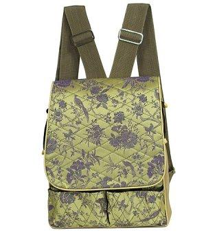 Green/Purple Flower & Birds-I Frogee Diaper Back Packs