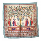DFJ015 Large Square Silk Scarf - 4 Ladies,Tree & Birds