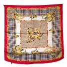 DFJ016 Large Square Silk Scarf - Red Leather Accessories