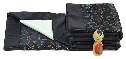I Frogee Black Chili Flower Brocade Baby Blankets