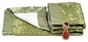 Olive Green Fortune Flower Brocade Fleece Baby Blankets