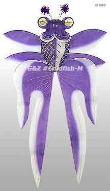3D Chinese Gold Fish Kite - Purple
