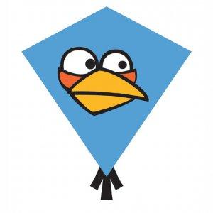 Blue Angry Birds Nylon Diamond Kites (81342)