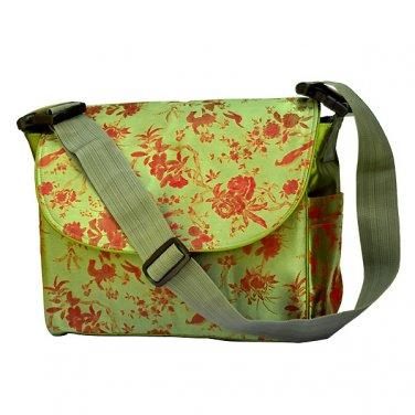 Multi Function Diaper Bag / Backpack - Green/Red