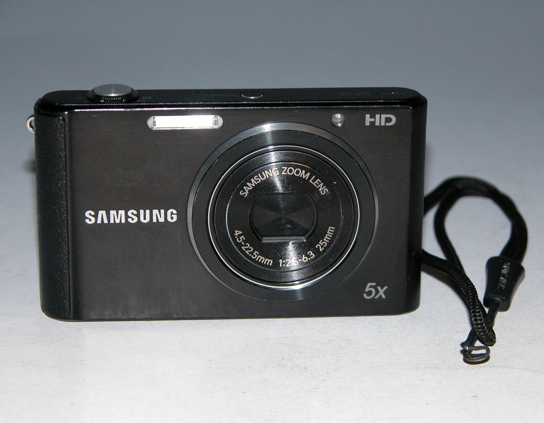Samsung ST77 16.1 MP Digital Camera - Black #5000