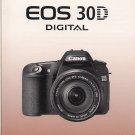 Canon EOS 30D Digital Original Instruction Manual (Spanish)