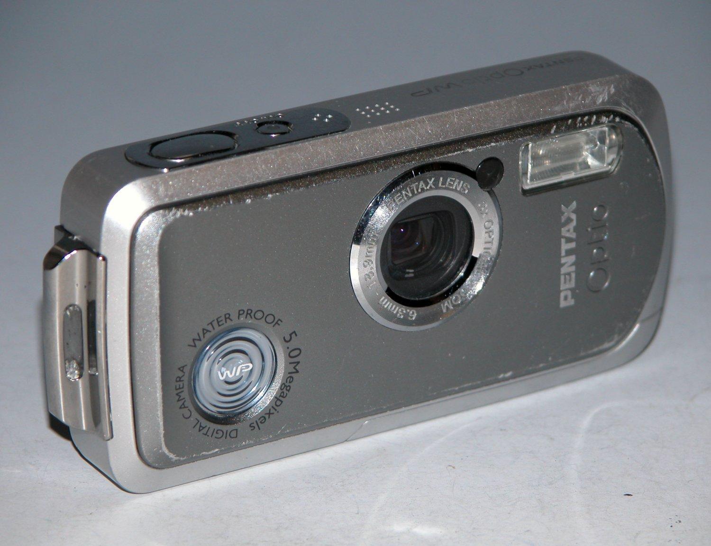 Pentax Optio WP 5.0MP Digital Camera - Silver