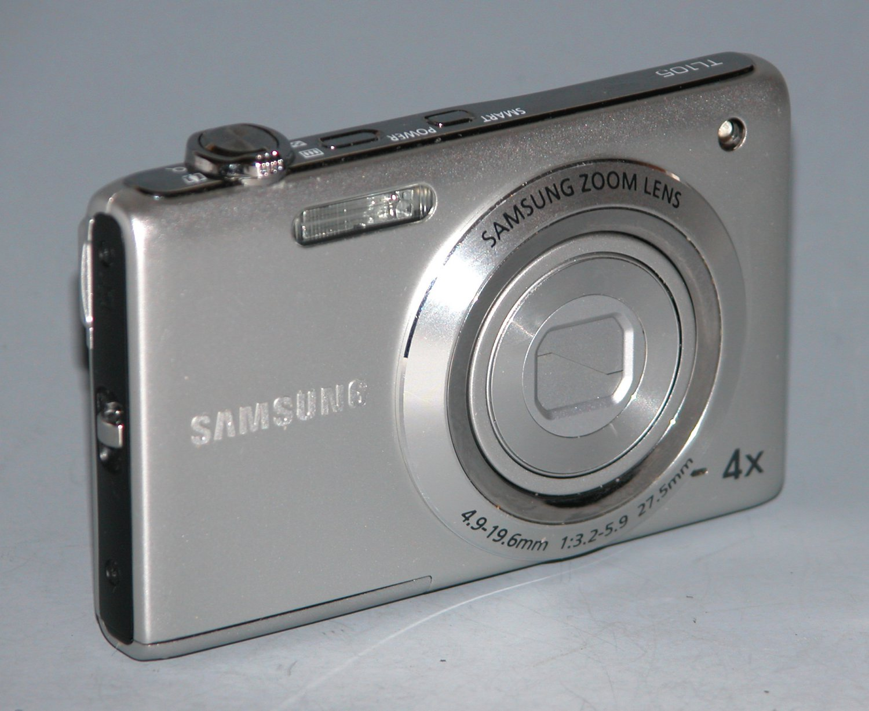Samsung TL105 12.2MP Digital Camera - Silver (Dot on LCD) #1923