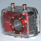 Vivitar DVR 786HD Camcorders Sport 720 Pixels Camera with Camera Housing - Red