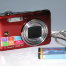 GE E1250TW 12.2 MP Digital Camera - Red
