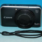 Canon PowerShot SX210 IS 14.1MP Digital Camera - Black #6367
