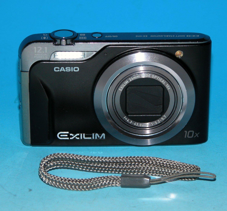 Casio EX-H10 12.1MP Digital Camera - Black #6777