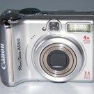 Canon PowerShot A550 7.1MP Digital Camera - Silver #2472