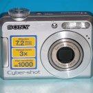 Sony Cyber-shot DSC-S650 7.2MP Digital Camera - Silver #5883