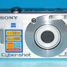 Sony Cyber-shot DSC-W70 7.2MP Digital Camera - Silver #1385