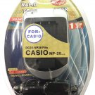 DC03-NP20 Rapid Travel Charger For Casio Digital Cameras EX-S500 etc.