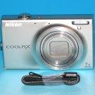 Nikon COOLPIX S6100 16.0MP Digital Camera - Silver #6666